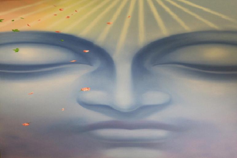 Neel Buddha is a Painting Created by Anjana Birla